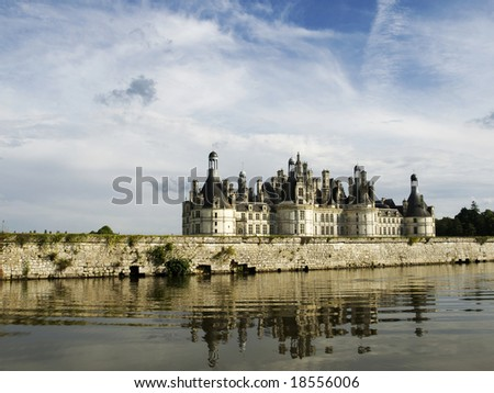 Chambord Castle from the canal
