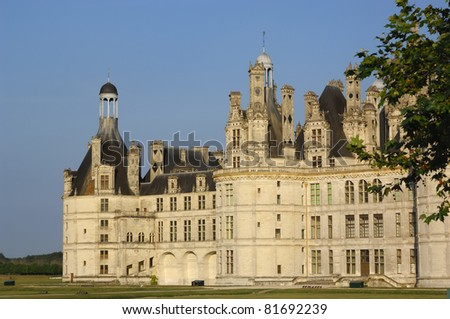 Chambord castle in the valley of Loire, France
