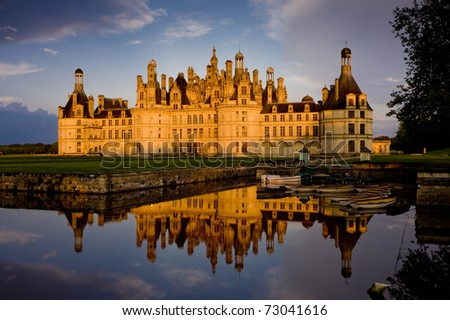 Chambord Castle, Loir-et-Cher, Centre, France - stock photo