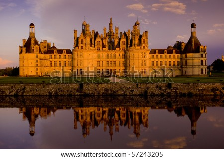 Chambord Castle, Loire-et-Cher, Centre, France - stock photo
