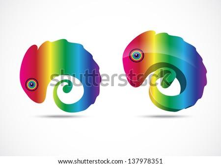 Chameleon business logo - stock photo