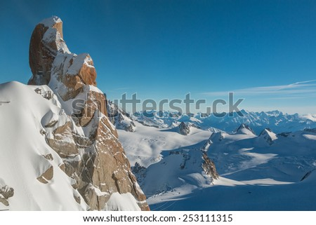 Chamonix in Alps - stock photo