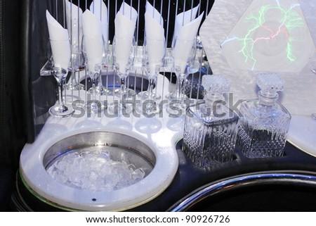 Champagne bar - stock photo