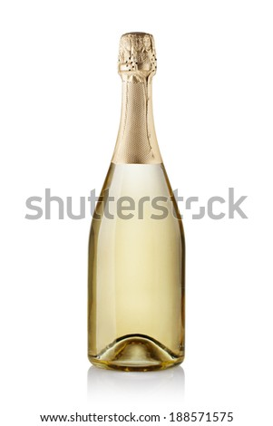 champagne bottle. isolated on white background - stock photo