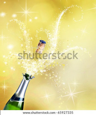 Champagne.Celebration concept - stock photo