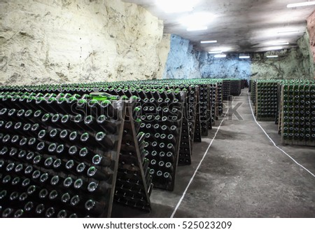 Champagne Cellar, factory at a depth of 80 meters, Artemovsk, Donetsk region, Ukraine
