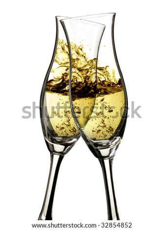champagne cheers - stock photo