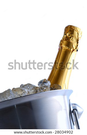 Champagne cooler isolated on white