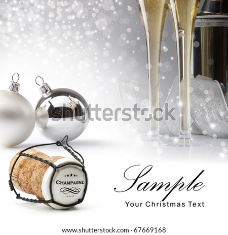 Champagne Cork - stock photo