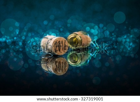 Champagne cork new year's 2016 concept - stock photo