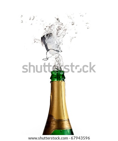 Champagne explosion. - stock photo