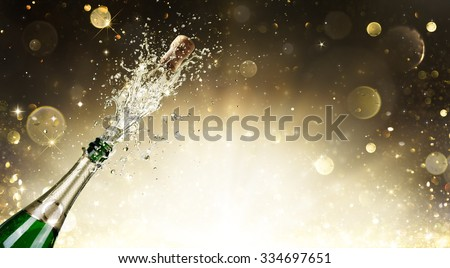 Champagne Explosion - Celebration New Year  - stock photo