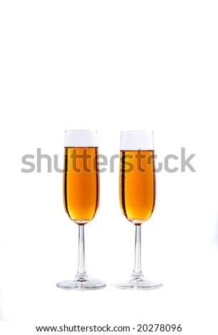 champagne for new year eve or wedding