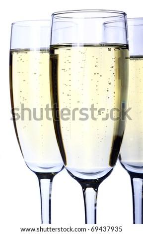 Champagne glass - stock photo