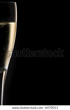 champagne glass close up