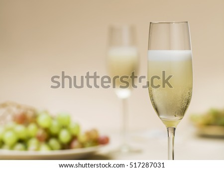 Champagne glass / Composition