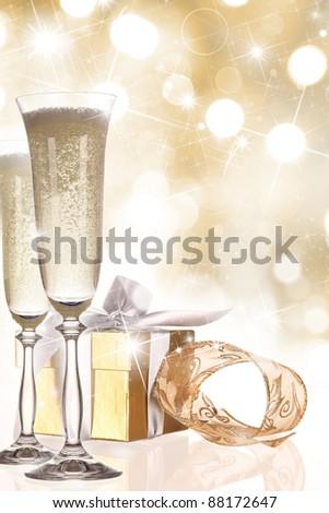 Champagne glasses - stock photo