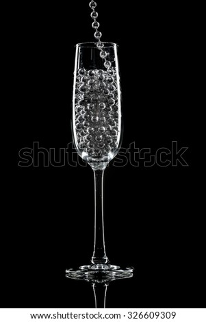 champagne glasses and decorations