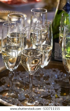 champagne glasses at a birthday party (december-2016)