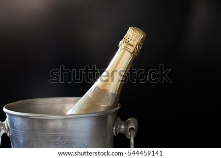 champagne in bucket - New Year celebration
