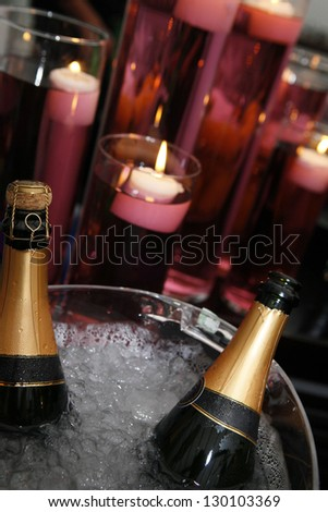 champagne in ice for celebration