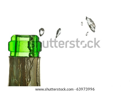 champagne in the bottle - stock photo