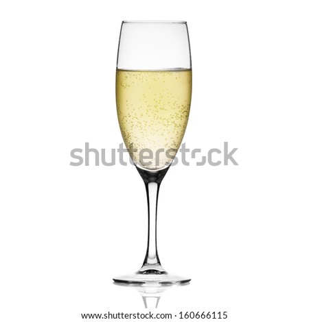 Champagne isolated on white
