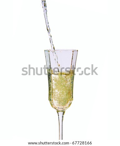 champagne isolated on white background