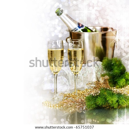 Champagne.New Year Celebration. - stock photo