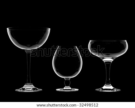 Champagne or wine glasses