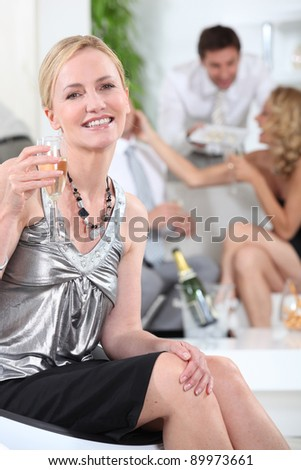Champagne party - stock photo