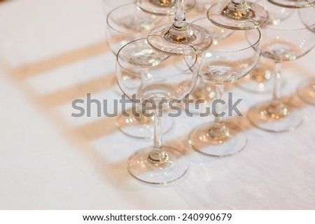 champagne party wedding glass tower