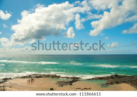 Champagne Pools, Fraser Island, Australia - stock photo