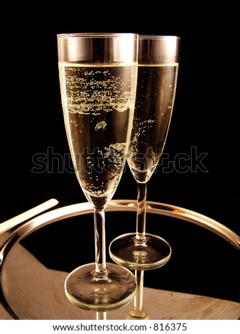 champagne ready for new Year Party - stock photo