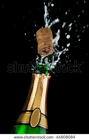 champagne shot isolated on white - stock photo