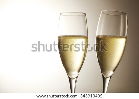 Champagne Sparkling wine - stock photo