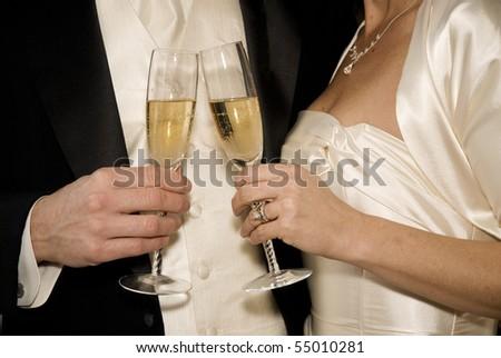 champagne toast - stock photo