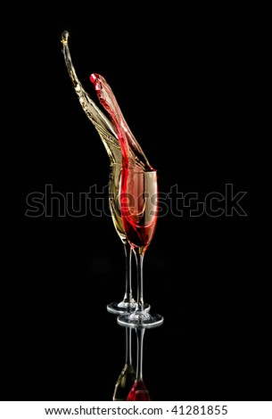 champagne two colors - stock photo