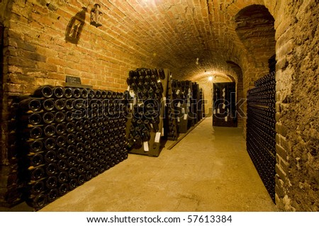 champagne winery, Epernay, Champagne Region, France - stock photo