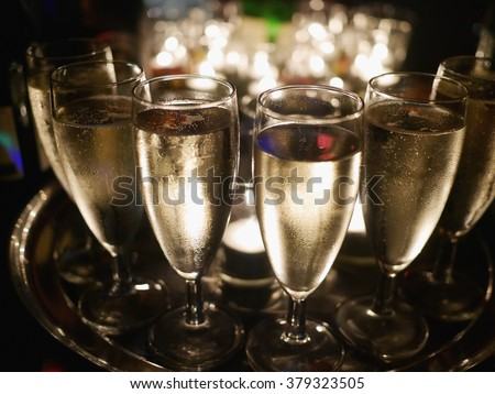 champagner glasses celebration - stock photo