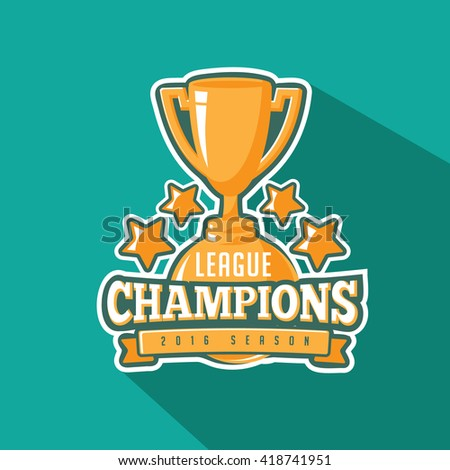 Champions Trophy Flat Design