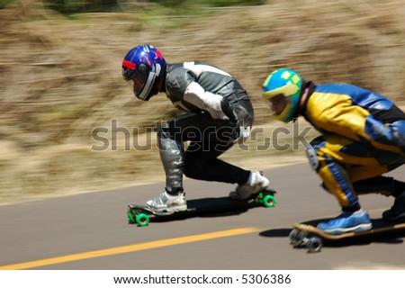 championship of Speed skating - stock photo