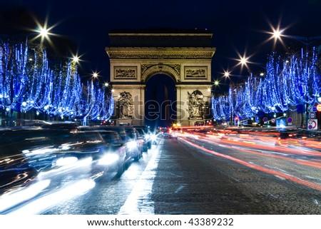 Champs Elysee, Paris - stock photo