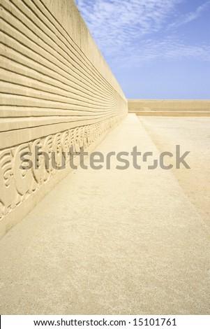 Chan Chan walls, Trujillo, Peru - stock photo