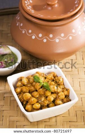 Chana masala, Indian Dish - stock photo