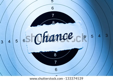 Chance concept, word on target paper