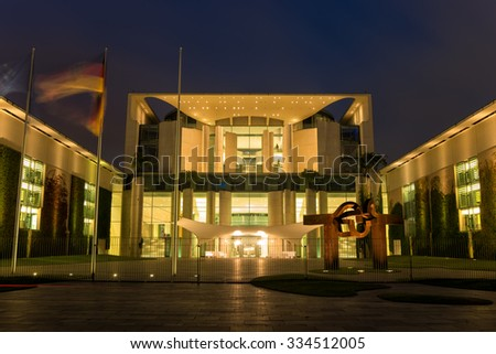 Chancellery In Berlin, Germany