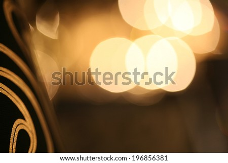 Chandelier beautiful reflections of light inside the room - stock photo