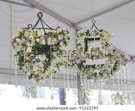 chandelier flower - stock photo