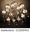 chandelier in vintage style - stock photo